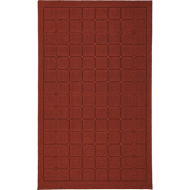 Mohawk Home Linden Squares 5-ft x 8-ft Rectangular Red Transitional Area Rug