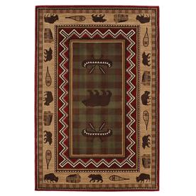 Mohawk Home Summerfield Lt Dark Brown Multicolor Rectangular Indoor Woven Area Rug (Common: 5 x 8; Actual: 63-in W x 94-in L x 0.5-ft Dia)