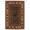 Mohawk Home Summerfield Lt Dark Brown 63-in x 94-in Rectangular Brown/Tan Transitional Area Rug