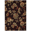 Mohawk Home Beacon A Chocolate 60-in x 84-in Rectangular Brown/Tan Transitional Area Rug