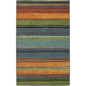 Mohawk Home Carnival Stripe Multi 96-in x 120-in Rectangular Blue Transitional Area Rug
