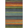 Mohawk Home Carnival Stripe Multicolor Rectangular Indoor Tufted Area Rug (Common: 8 x 10; Actual: 96-in W x 120-in L x 0.5-ft Dia)