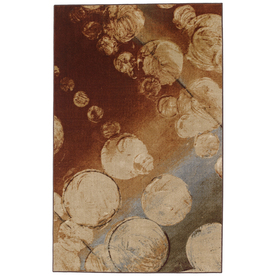 Mohawk Home Prismatic Rain Multi 60-in x 96-in Rectangular Cream/Beige/Almond Transitional Area Rug
