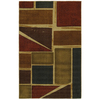 Mohawk Home Springfield Shapes 8-ft x 10-ft Rectangular Tan Transitional Area Rug