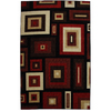 Mohawk Home Kingston Frames Red Rectangular Tufted Area Rug (Common: 5 x 8; Actual: 60-in W x 96-in L)
