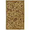 Mohawk Home Naples Floral Beige 60-in x 96-in Rectangular Cream/Beige/Almond Transitional Area Rug