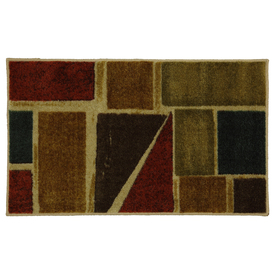 Mohawk Home Springfield Shapes 20-in x 34-in Rectangular Multicolor Geometric Accent Rug