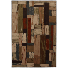Mohawk Home Bradford Brown Rectangular Indoor Woven Area Rug (Common: 8 x 10; Actual: 96-in W x 120-in L x 0.5-ft Dia)