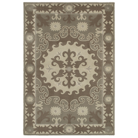 Mohawk Home Valencia Granite Gray Rectangular Indoor Woven Area Rug (Common: 8 x 10; Actual: 96-in W x 120-in L x 0.5-ft Dia)