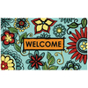 Style Selections 30-in x 18-in Multicolor Rectangle Door Mat