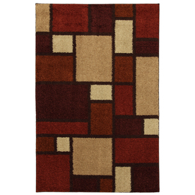Mohawk Home Anderson Blocks Multi 5-ft 3-in x 7-ft 10-in Rectangular Red Transitional Area Rug