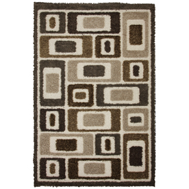 Mohawk Home Metro Blocks 5-ft 3-in x 7-ft 10-in Rectangular Tan Transitional Area Rug