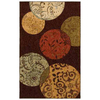 Mohawk Home Potter Medallion 5-ft x 8-ft Rectangular Brown Floral Area Rug