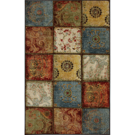 Mohawk Home Yellow Springs Patchwork 5-ft x 8-ft Rectangular Blue Transitional Area Rug