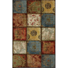 Mohawk Home Yellow Springs Patchwork Multi 60-in x 96-in Rectangular Blue Transitional Area Rug