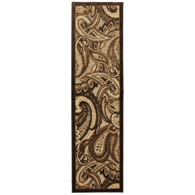Mohawk Home Brown Paisley Indoor Woven Runner (Common: 2 x 8; Actual: 25-in W x 94-in L)