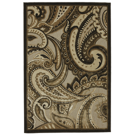 Mohawk Home Brown Paisley Natural Brown Rectangular Indoor Woven Area Rug (Common: 5 x 8; Actual: 63-in W x 94-in L x 0.5-ft Dia)