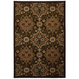 allen + roth Mifflin Brown Brown Rectangular Indoor Woven Area Rug (Common: 8 x 10; Actual: 96-in W x 120-in L x 0.5-ft Dia)