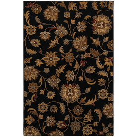 Mohawk Home Blackbourne Black Black Rectangular Indoor Woven Area Rug (Common: 8 x 10; Actual: 96-in W x 120-in L x 0.5-ft Dia)