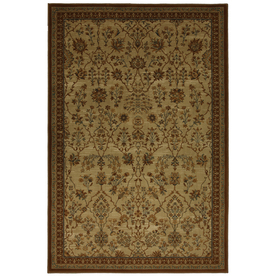 allen + roth Empire Park Md Beige Brown Rectangular Indoor Woven Area Rug (Common: 8 x 10; Actual: 96-in W x 120-in L x 0.5-ft Dia)