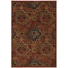 allen + roth Elverson Coral Brown Rectangular Indoor Woven Area Rug (Common: 5 x 8; Actual: 63-in W x 94-in L x 0.5-ft Dia)