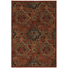 allen + roth Elverson Coral 96-in x 120-in Rectangular Orange/Peach/Apricot Transitional Area Rug