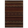 Mohawk Home Cedar Run Dark Brown 96-in x 120-in Rectangular Red/Pink Transitional Area Rug
