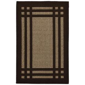 allen + roth Carney Mink Aureo Brown Rectangular Indoor Tufted Throw Rug (Common: 2 x 3; Actual: 24-in W x 40-in L x 0.5-ft Dia)