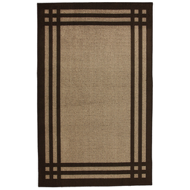 allen + roth Carney Mink Aureo Brown Rectangular Indoor Tufted Area Rug (Common: 5 x 8; Actual: 60-in W x 96-in L x 0.5-ft Dia)