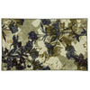 Mohawk Home Floral Silhouette 30-in x 46-in Rectangular Beige Floral Accent Rug