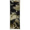 Mohawk Home Floral Silhouette Beige 24-in W x 5-ft L Blue Runner