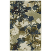Mohawk Home Floral Silhouette 5-ft x 8-ft Rectangular Gray Floral Area Rug