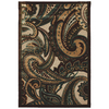 Mohawk Home Brown Paisley Brown 63-in x 94-in Rectangular Brown/Tan Floral Area Rug