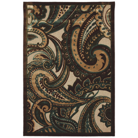 Mohawk Home Paisley 8-ft x 10-ft Rectangular Brown Floral Area Rug