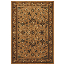 allen + roth Gladwyne 5-ft 3-in x 7-ft 10-in Rectangular Tan Floral Area Rug