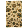 Mohawk Home Blackbourne 25-in x 44-in Rectangular Beige Floral Accent Rug