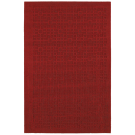 Mohawk Home Salt Box 5-ft x 7-ft Rectangular Red Transitional Area Rug