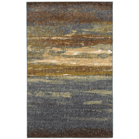 Mohawk Home Abstract Sea 5-ft x 7-ft Rectangular Multicolor Transitional Area Rug