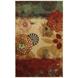 Mohawk Home Pandora Multicolor Rectangular Indoor Woven Area Rug (Common: 5 x 8; Actual: 60-in W x 84-in L x 0.5-ft Dia)