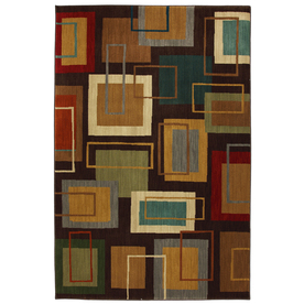 Mohawk Home Windsor Brown Rectangular Indoor Woven Area Rug (Common: 8 x 10; Actual: 96-in W x 120-in L x 0.5-ft Dia)