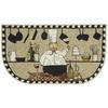Mohawk Home Cream Semicircle Door Mat (Common: 18-in x 30-in; Actual: 18-in x 30-in)