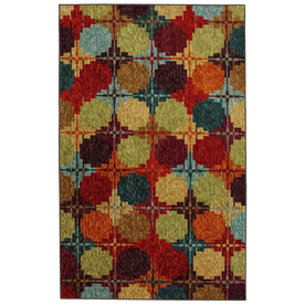 Mohawk Home Digital Quilt 5-ft x 8-ft Rectangular Red Transitional Area Rug