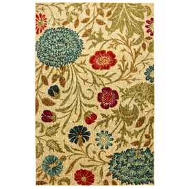 Mohawk Home Bettina 5-ft x 8-ft Rectangular Beige Transitional Area Rug