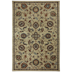 Mohawk Home Gaston 5-ft 3-in x 7-ft 10-in Rectangular Beige Transitional Area Rug