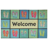 Style Selections 30-in x 18-in Blue Rectangular Door Mat