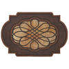 Style Selections 35-in x 23-in Brown Oval Door Mat