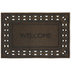 Style Selections 35-in x 23-in Brown Rectangular Door Mat