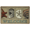 Style Selections 30-in x 18-in Brown Rectangular Door Mat