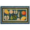 Mohawk Home Fruit and Slices 18-in x 30-in Rectangular Blue Transitional Accent Rug