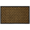 Style Selections 29-1/2-in x 17-1/2-in Brown Rectangular Door Mat
